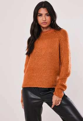 Missguided Rust Crew Neck Jumper