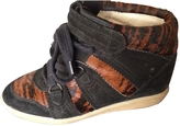 Isabel Marant Brown Exotic leathers Trainers