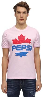 Dsquared2 X Pepsi Printed Fat Dan Cotton Jersey T-shirt