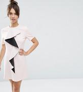 Asos Frill Detail Shift Dress