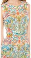 Just Cavalli Acanthus Embroidery Print Mini Dress