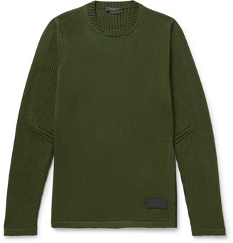 Prada Shell-Trimmed Virgin Wool Sweater