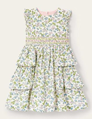 Boden Ditsy Floral Smocked Dress