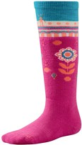 Smartwool Wintersport Flower Patch Socks - Merino Wool, Over the Calf (For Little and Big Girls)