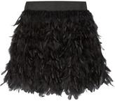 Alice + Olivia Alice Olivia - Cina Feather-embellished Tulle Mini Skirt - US0