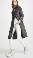 R 13 3/4 Sleeve Coat With Chest Strap