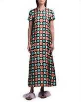 Marni Double J Geometric Long Silk Swing Dress
