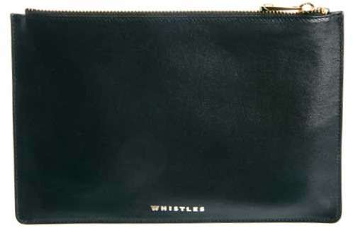Whistles Leather Zip Top Purse