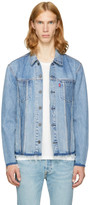 Levi's Levis Blue Denim Altered Trucker Jacket