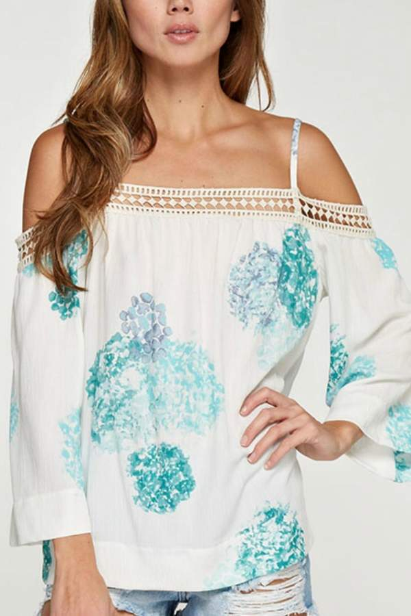 Love Stitch Lovestitch Off Shoulder Blouse