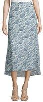 Theory Vivridge Avery Long Floral-Printed Silk Skirt