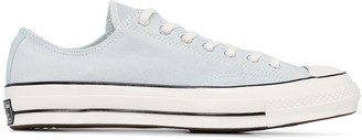 Converse light blue Chuck Taylor 70 suede sneakers
