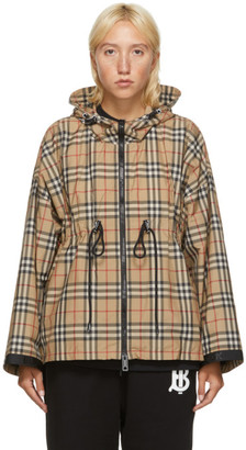 Burberry Beige Backton Check Jacket