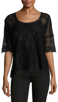 Gold Hawk Bianca Wedge Lace Blouse