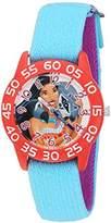 Disney Girl's 'Pocahontas' Quartz Plastic and Nylon Watch, Color:Blue (Model: W002974)