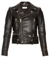 Saint Laurent Destroyed leather jacket