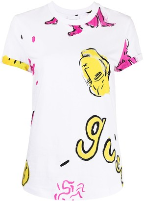 Alice McCall graffiti print cotton T-shirt