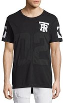 True Religion Mesh Football Elongated T-Shirt, Black