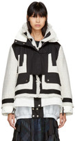 Sacai Off-white and Black Mix Tweed Jacket