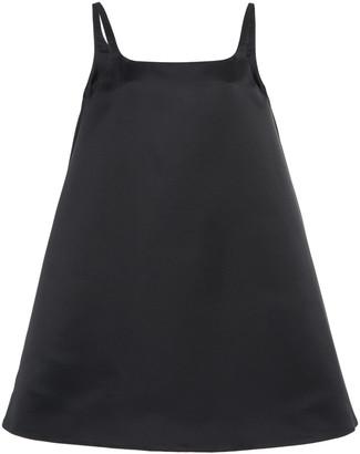Prada Button-Detailed Silk-Satin Mini Dress
