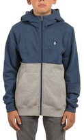 Volcom Boy's Single Stone Division Zip-Up Hoodie
