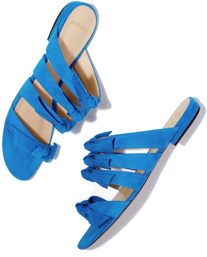 Alexandre Birman Julita Flat Suede Sandals