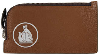 Lanvin Brown Zipped Wallet