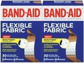 Band-Aid Flexible Fabric Adhesive Bandages, One Size, 2 pk