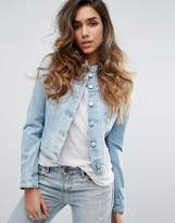 Replay Collarless Denim Jacket