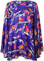 Emilio Pucci floral print oversized blouse