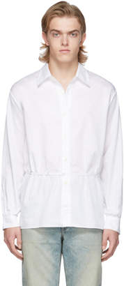 Our Legacy White Poplin Backless Shirt