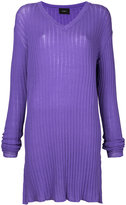 G.V.G.V. ribbed tunic jumper - women - Cotton/Polyester - XS