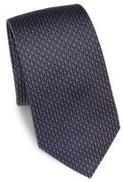 HUGO BOSS Geometric Print Silk Tie