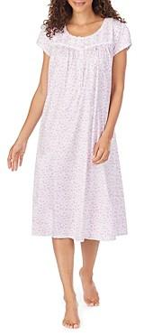 Eileen West Floral-Print Cotton Jersey Ballet Nightgown