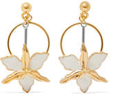 Marni Gold-tone, Silver-tone And Enamel Earrings