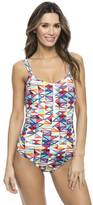 Nautica Flags Print One-Piece Swimsuit