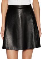 Muu Baa Pannala Leather A-Line Skirt