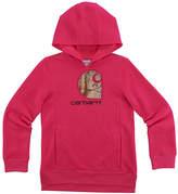 Carhartt Pink Peacock & Realtree Xtra® 'Carhartt' Pullover Hoodie - Girls