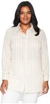 KARI LYN Plus Size Zora Button Up Tunic