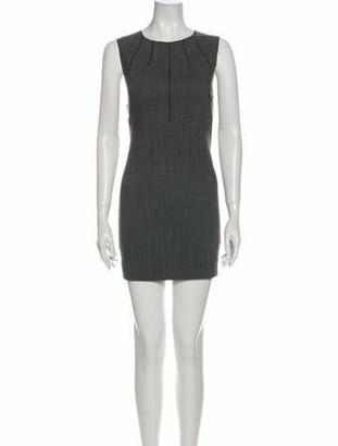 Dolce & Gabbana Crew Neck Mini Dress Grey