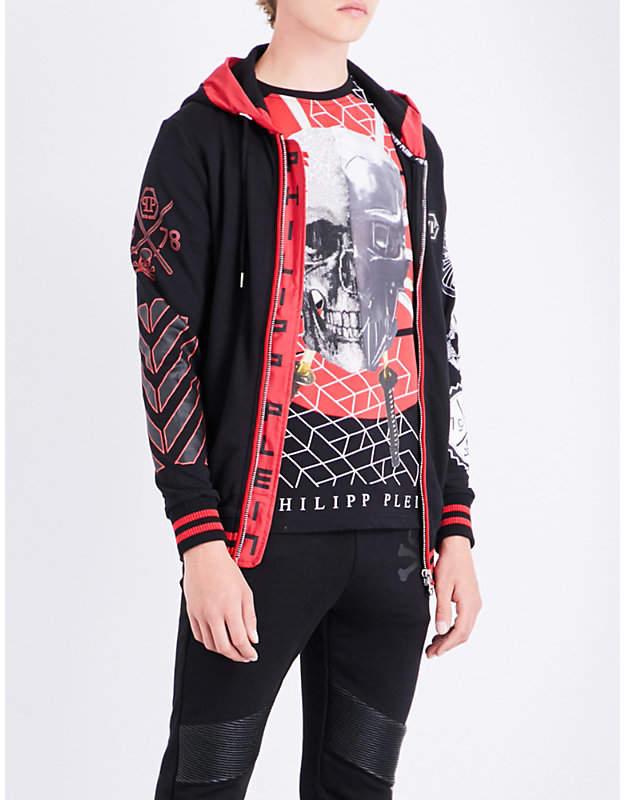 Philipp Plein Samurai cotton hoody
