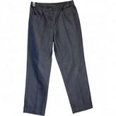 John Galliano Blue Silk Trousers for Women Vintage