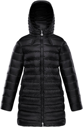 Moncler Girl's Jacinte Hooded Long Quilted Parka, Size 8-14