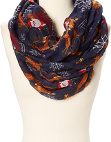 David & Young Navy & Red Sleigh Infinity Scarf