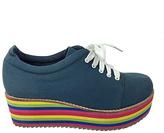C Label Blue Nata Platform Sneaker