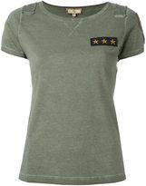 Fay Star patch logo T-shirt - women - Cotton - S