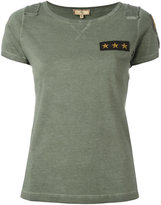 Fay Star patch logo T-shirt - women - Cotton - XL