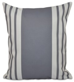 e by design 16 Inch Gray Decorative Striped Throw Pillow