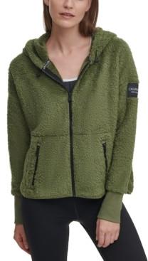 Calvin Klein Hooded Fleece Jacket