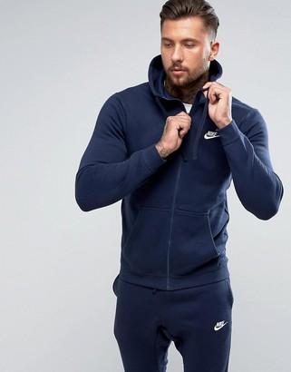 Nike Club full zip hoodie in navy